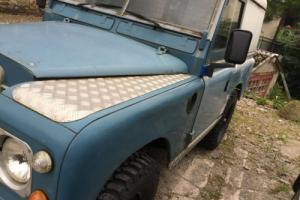 "LAND ROVER 88"" - 4 CYL BLUE/WHITE"