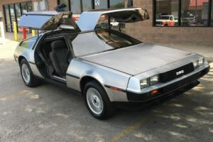 1982 DeLorean DMC DELORIAN DMC-12 GULLWING ORIGINAL BARN FIND 5 SPEED