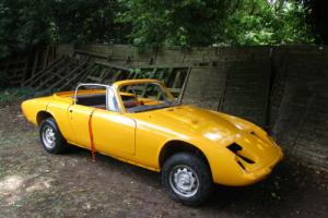 LOTUS ELAN +2 S, 1970, ABANDONED PROJECT, NEEDS TOTAL RESTORATION, SOLID CHASSIS