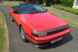 1987 TOYOTA CELICA 2.0L GT CABRIOLET RED