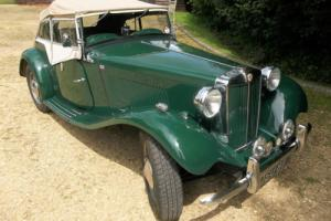 MG TD, 1952 Finished in green. Photo