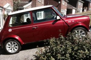 1999 ROVER MINI COOPER SPORTPACK RARE NIGHTFIRE RED ONLY 27000 MILES FROM NEW Photo