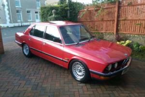 1988 BMW E28 525 E LUX AUTO RED ( 5 Series Saloon 4 Door Retro Classic Car )