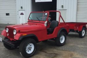 1973 Jeep CJ5 with trailer