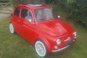 1967 FIAT 500 RED Great Condition. Brand new upgraded engine