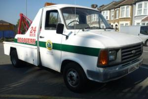 Ford Transit 190 twin wheel 1983 a reg 2000 cc petrol recovery vehicle mk1 mk2