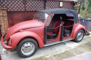 1970 VW Beetle + One-off 4 Canvas Door Beetle Cabriolet + Unique + Karmann Frame