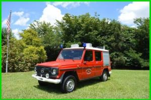 1980 Mercedes-Benz G-Class 1980 MERCEDES BENS G230 FIREFIGHTER TRUCK 4WD SUV