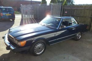 MERCEDES 450 SL V8 R107 AUTO CONVERTIBLE(1978)ROYAL BLUE! HARDTOP/CHROME ALLOYS!