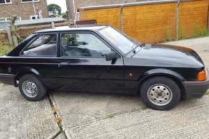 1989 FORD ESCORT POPULAR BLACK - 2 Door Model - V5 - MOT - 8 owners