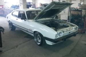 1986 FORD CAPRI LASER WHITE - Banded steels - 1.6 - Project - Spares Repairs