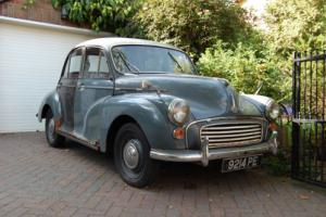 1958 Morris Minor 4 door restoration or spares and cherished number plate 9214PE