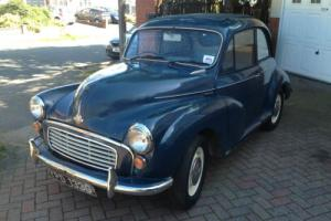 1969 Morris Minor 1000 2 Door Saloon Trafalgar Blue MOT 2016