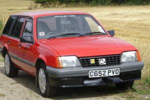 Classic 1985 Vauxhall Cavalier Estate 33k red Norfolk