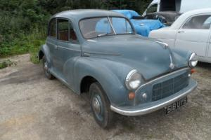 MORRIS MINOR 1954 SLPITSCREEN 4 DOOR FOR RENOVATION.ROCK N ROLL DASH Photo