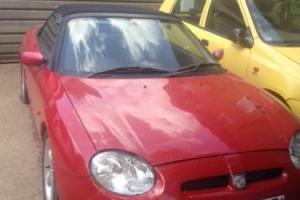 MG MGF convertible car for repair