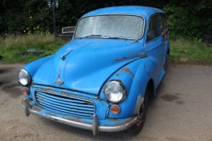 Early 1963 Morris minor traveller 1000 classic car restoration project