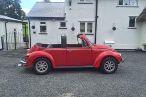 1973 VOLKSWAGEN 1600 SUPER BEETLE CONVERTIBLE . RARE . CLASSIC Photo