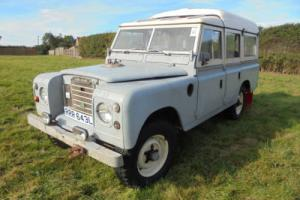 1973 Land Rover Series 111 Dormobile for full restoration fitted with P6 V8