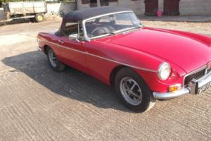 MGB GT ROADSTER RED 1971 CHROME BUMPER LAST OWNER 30YEARS