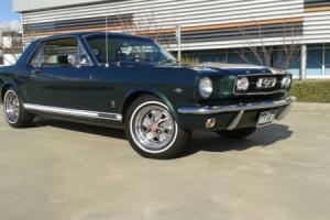 Ford Mustang 1966 GT Coupe RHD IVY Green White 289 V8 Auto PWR STR AIR CON in VIC