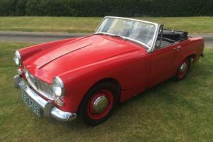 A very smart 1967 MG Midget Mark III 1275cc + MOT 07/17+great driver