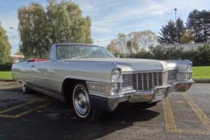 1965 CADILLAC DEVILLE CONVERTIBLE SILVER/RED OUTSTANDING CONDITION