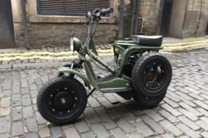 Unique WW2 US Airborne Inspired Scooter LML Vespa with Trailer.