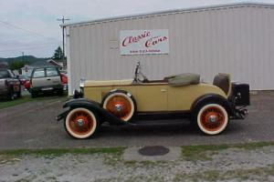 1930 Chevrolet RUMBLE  SEAT  RAODSTER  DUAL  SIDE  MOUNTS RARE  RARE  RARE