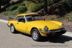 1974 Triumph Spitfire 4-speed manual with overdrive and soft/hardtop