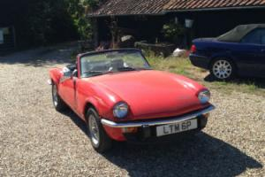 1975 TRIUMPH SPITFIRE 1500 Pimento Red Photo
