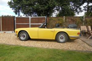 1973 Triumph TR6 UK car with Overdrive