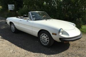 ALFA ROMEO SPIDER 1979 NEW PAINT, ZERO RUST, NEW MOT GREAT CONDITION Photo