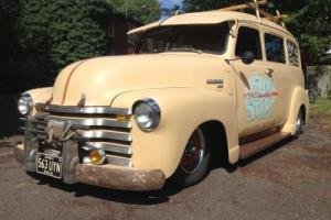 1950 CHEVY SUBURBAN SURF WAGON,ONE OFF VEHICLE,V8 SBC 350, RARE CLASSIC/HOTROD