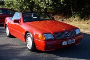 1992 MERCEDES BENZ 300SL CONVERTIBLE WITH THE HARDTOP, FSH, IMPERIAL RED