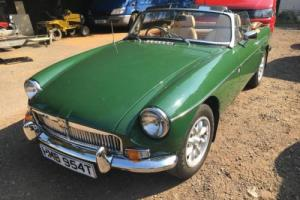 mgb green roadster