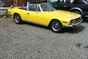 triumph stag v8 automatic original engine low milage good example Yellow h/top