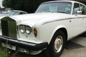 1979 Rolls Royce Silver Shadow 1 white with black leather upholstery