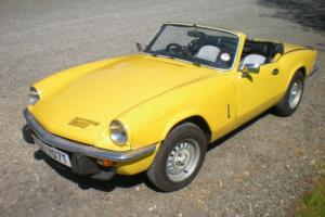 1978 TRIUMPH SPITFIRE 1500 Yellow family owned from new