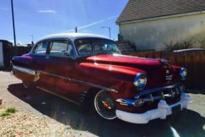 1954 chevy bel air 2 door hard top hot rod uk registered daily driver new paint