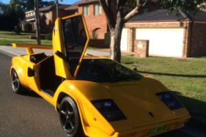Lamborghini countach 5000S Exact scale Replica registered with worked 383 chev