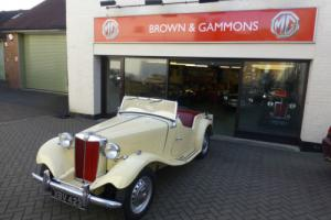 MG TD 1952, CREAM, USA CAR, NOW UK REGISTERED