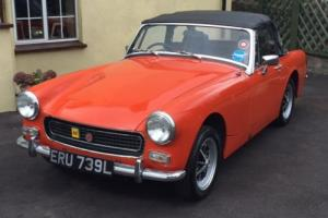 1973 MG MIDGET Mk3 CHROME BUMPER ROUND ARCH NEW MOT TAX EXEMPT LOVELY CONDITION