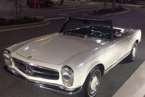 1965 Mercedes-Benz SL-Class White/blue LEATHER, 2 tops. * * * WORLDWIDE SALE.* * *