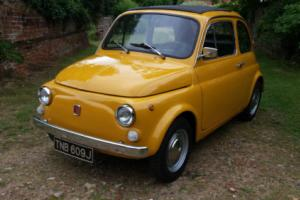 JUST SOLD!!!!!1970 FIAT 500L Stunning in Giallo Positano!!!