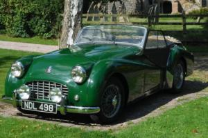 CLASSIC 1956 TRIUMPH TR3 ROADSTER.OVERDRIVE WIRES OLDER RESTORATION READY TO USE