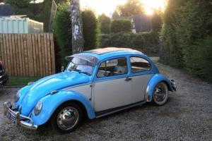 1967 VW Beetle Cal Look with Rag Top, Baby Blue & White, 1500CC - MUST SEE!