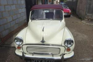 Morris Minor Convertible 1966 Back to chassis rebuild 1275 cc Oselli Engine VGC