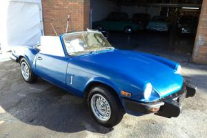 TRIUMPH SPITFIRE 1500 CONVERTIBLE LHD(1979) MET BLUE! OVERDRIVE! RUST FREE CAR! Photo