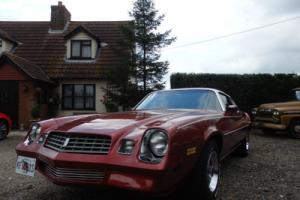 1978 CHEVROLET CAMARO LT 350CI. V8 AUTO FINISED IN CRIMSON VELVET